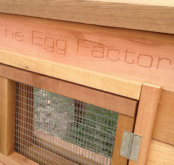 The Egg Factory Custom Carved Name Board